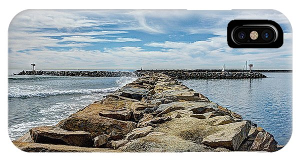 iPhone Case - Oceanside Jetty by Ann Patterson