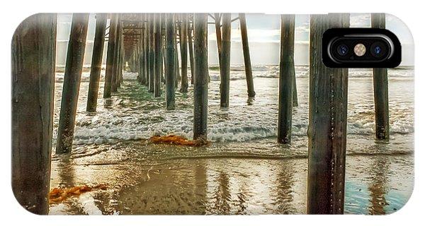 Oceanside - Low Tide Under The Pier IPhone Case