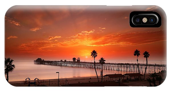 California iPhone Case - Oceanside Sunset 9 by Larry Marshall