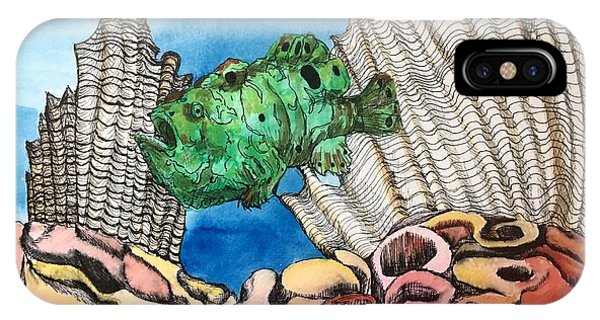 Ocellated Frogfish IPhone Case