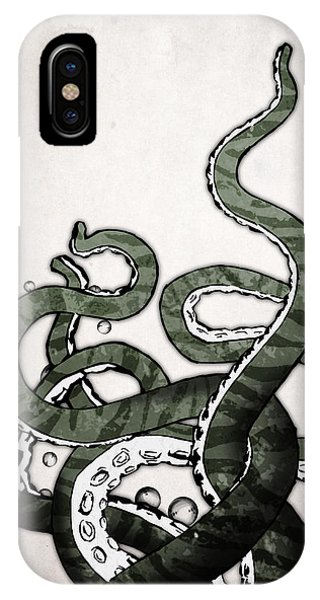 Cartoon iPhone Case - Octopus Tentacles by Nicklas Gustafsson