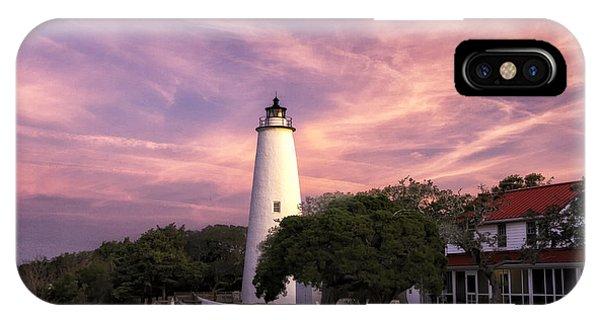 Ocracoke Lighthouse 01 IPhone Case