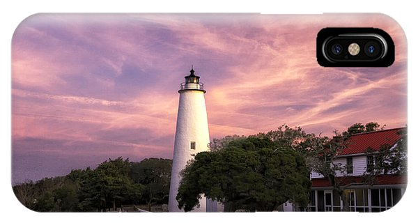 Ocracoke Lighthouse 01 IPhone Case