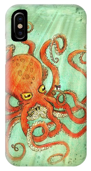 iPhone Case - Octo Tako With Surprise by Kato D