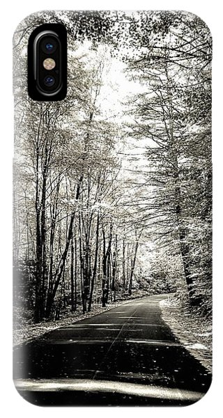 October Grayscale  IPhone Case