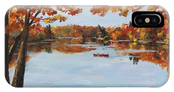 October Morn At Walden Pond IPhone Case