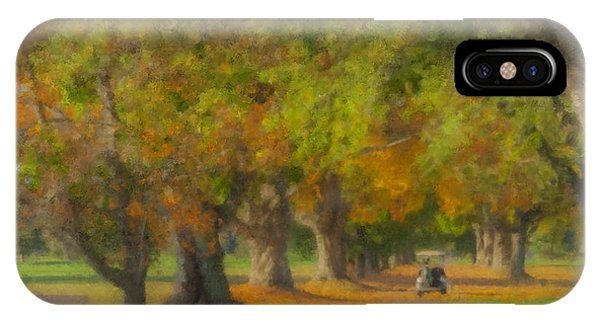 October Morning At Easton Country Club IPhone Case
