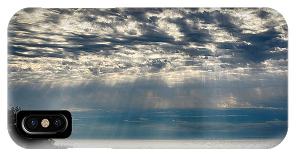IPhone Case featuring the photograph October Sky by William Selander