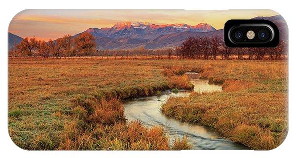 October Sunrise In Heber Valley. IPhone Case