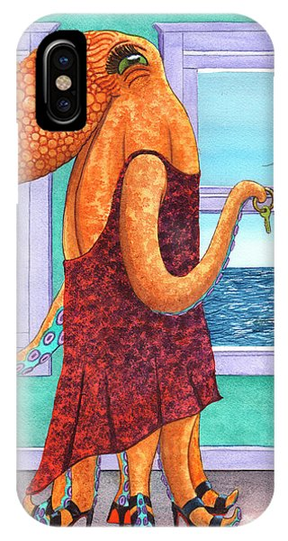 Octopus In A Cocktail Dress IPhone Case