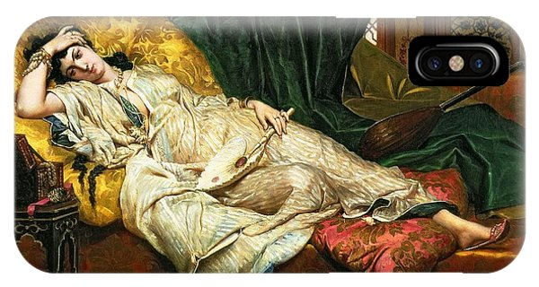 Chaise iPhone Case - Odalisque With A Lute by Hippolyte Berteaux