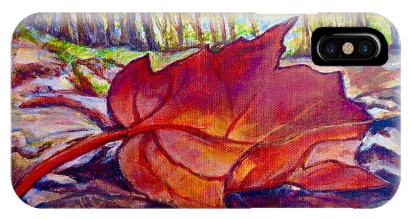 Ode To A Fallen Leaf Painting IPhone Case
