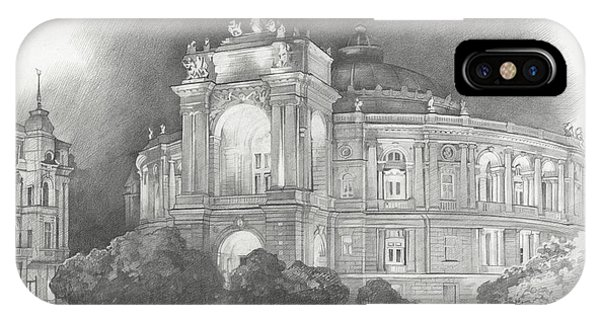 iPhone Case - Odessa Theater  by Denis Chernov