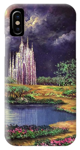 Of Glass Castles And Moonlight IPhone Case