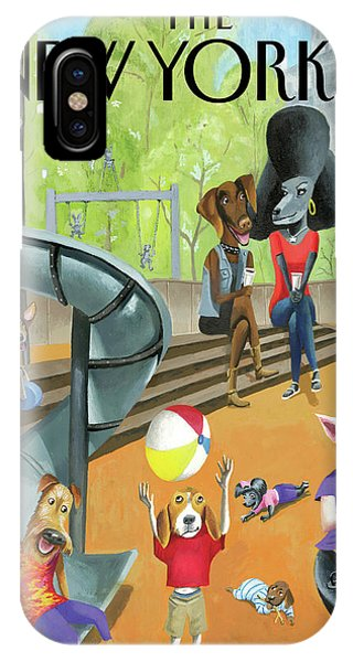 Pets iPhone Case - Off The Leash by Mark Ulriksen