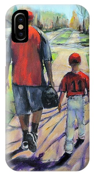 My Son iPhone Case - Off To The Game by Jodie Marie Anne Richardson Traugott          aka jm-ART