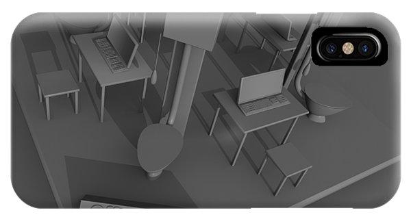 Toilet Humor iPhone Case - Office Four by Rolf Bertram