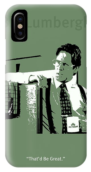 Office iPhone Case - Office Space Bill Lumbergh Movie Quote Poster Series 002 by Design Turnpike