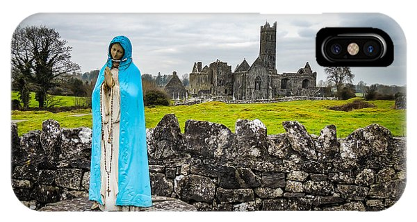 Official Greeter At Ireland's Quin Abbey National Monument IPhone Case