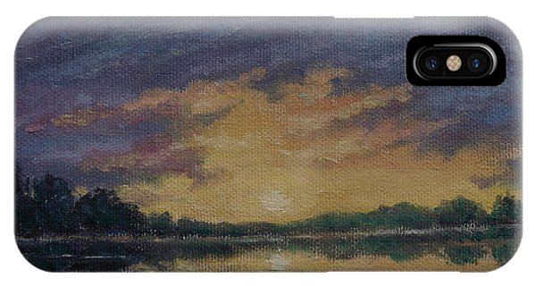 Offshore Sunset Sketch IPhone Case