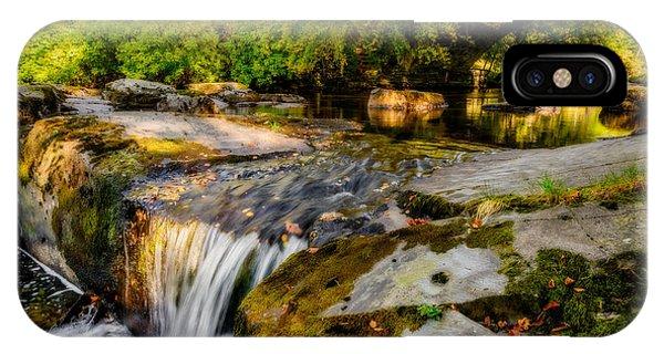 Caravan iPhone Case - Ogwen Bank Waterfall  by Adrian Evans