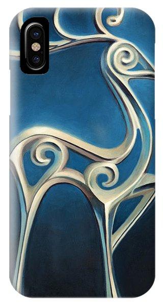 IPhone Case featuring the painting Oh Deer by Joe Winkler