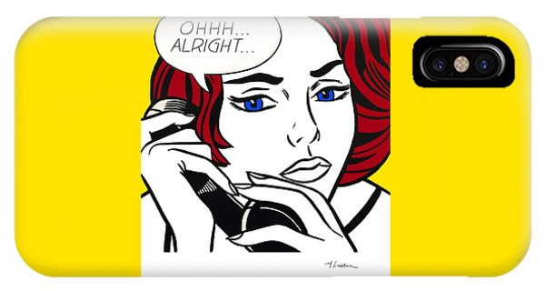 Ohhh...alright - Roy Lichtenstein IPhone Case