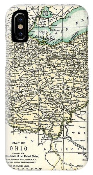 Ohio Antique Map 1891 IPhone Case