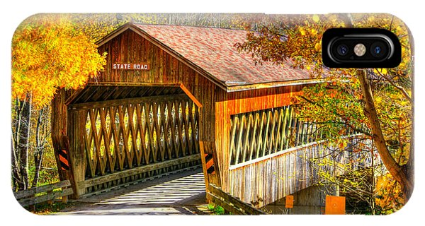 Kingsville iPhone Case - Ohio Country Roads - State Road Covered Bridge Over Conneaut Creek No. 11 - Ashtabula County by Michael Mazaika