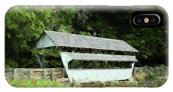 Covered Bridge iPhone Case - Ohio Covered Bridge by Tom Mc Nemar