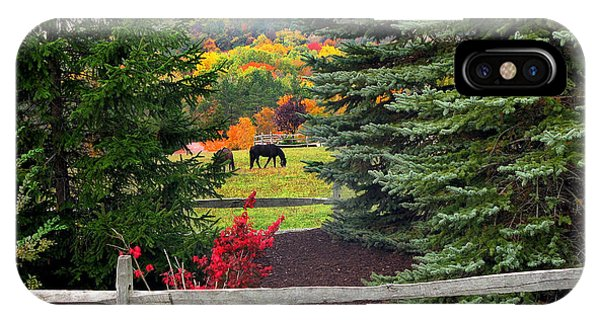 Ohio Farm In Autumn IPhone Case