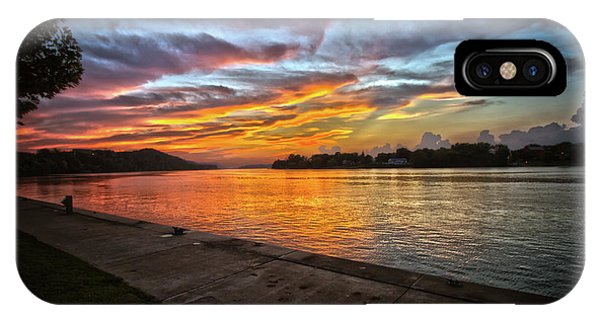 Ohio River Sunset IPhone Case