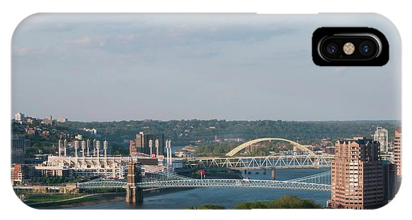 Ohio River's Suspension Bridge IPhone Case