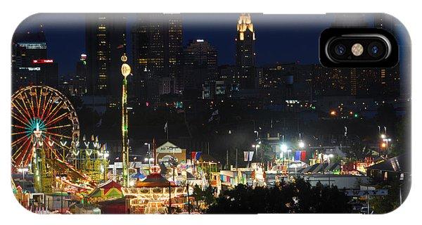 D3l-464 Ohio State Fair With Columbus Skyline IPhone Case