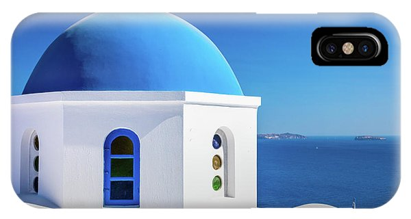 Greece iPhone Case - Oia Chapel by Inge Johnsson