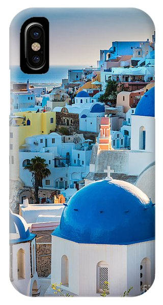 Greece iPhone X Case - Oia Town by Inge Johnsson