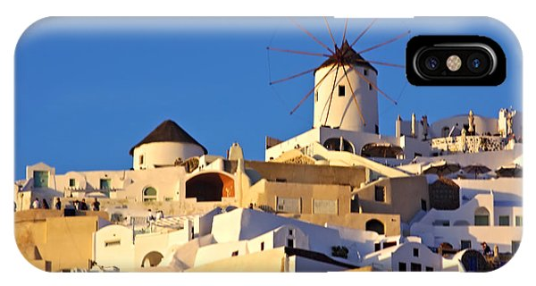 IPhone Case featuring the photograph Oia Windmill by Jeremy Hayden