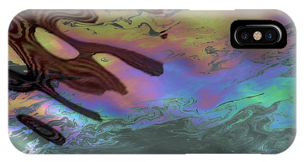 Oil And Flag At Pearl Harbor IPhone Case