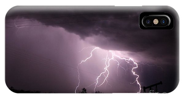 Oil Field Lightning IPhone Case