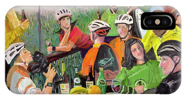Oil- Luncheon Of The Cycling Party IPhone Case