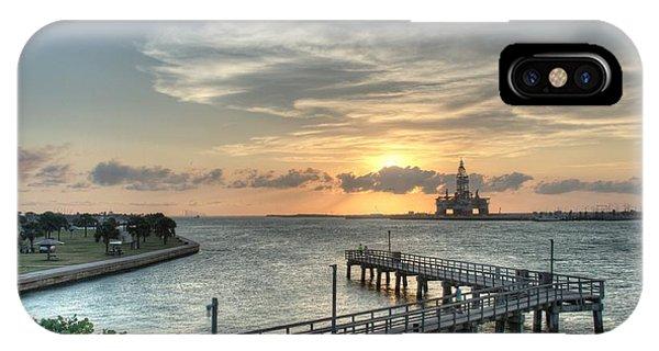 Oil Rig In Gulf IPhone Case