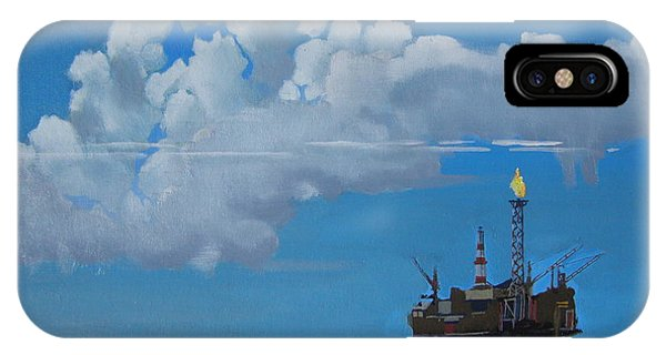 Oil Rig Near The Shetland Islands IPhone Case