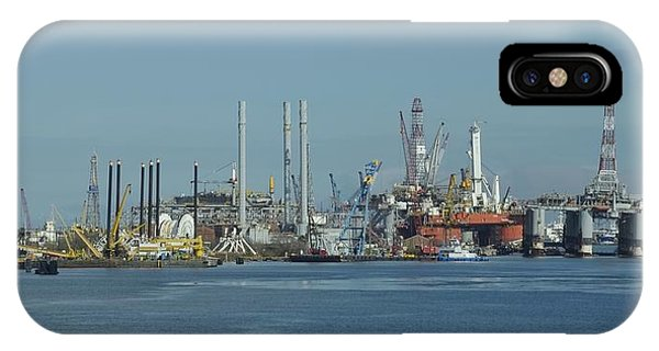 IPhone Case featuring the photograph Oil Rigs At Galveston by Bradford Martin