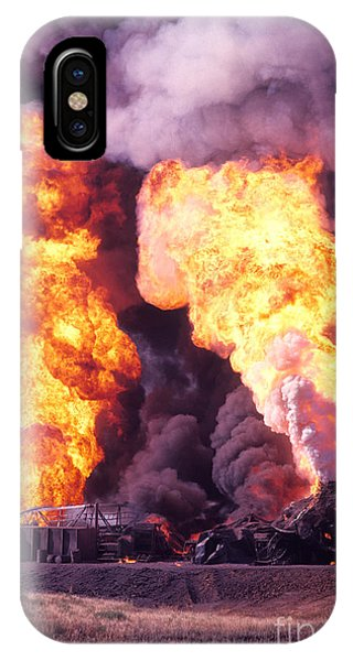Oil Well Fire IPhone Case