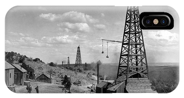 IPhone Case featuring the photograph Oil Well, Wyoming, C1910 by Granger
