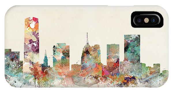 Oklahoma iPhone Case - Oklahoma City Oklahoma Skyline by Bri Buckley