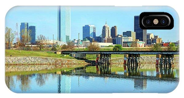 Oklahoma City Skyline Phone Case by Denis Tangney Jr