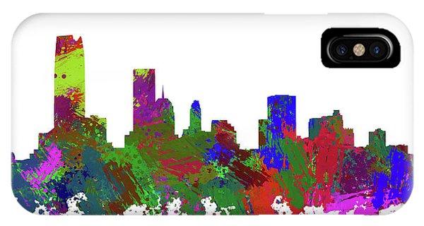 Ok iPhone Case - Oklahoma City Skyline Painted by Ricky Barnard