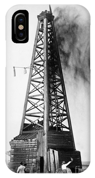 Exterior iPhone Case - Oklahoma: Oil Well, C1922 by Granger