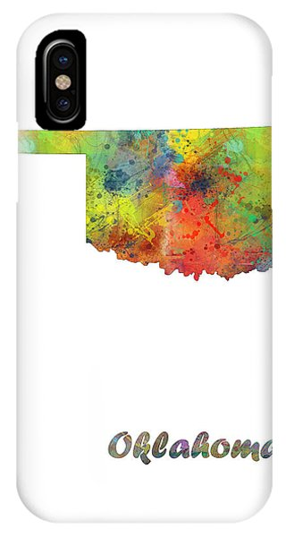 Ok iPhone Case - Oklahoma State Map by Marlene Watson